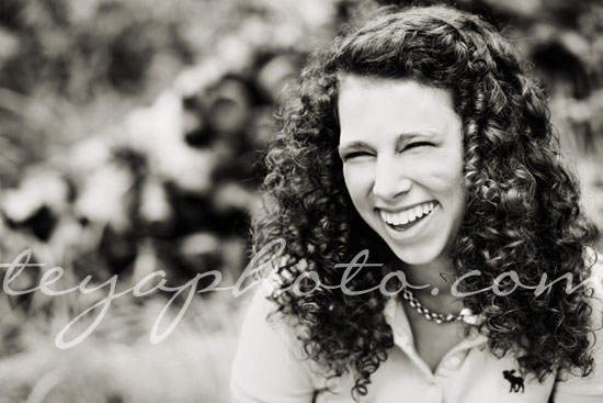 black and white senior portrait