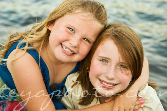 Sister Portrait on the Lake