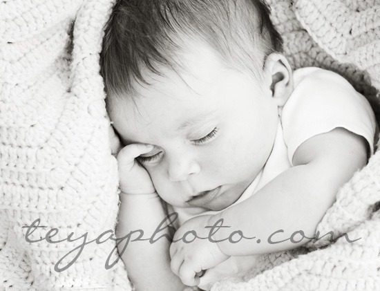 Three-month-old baby portrait